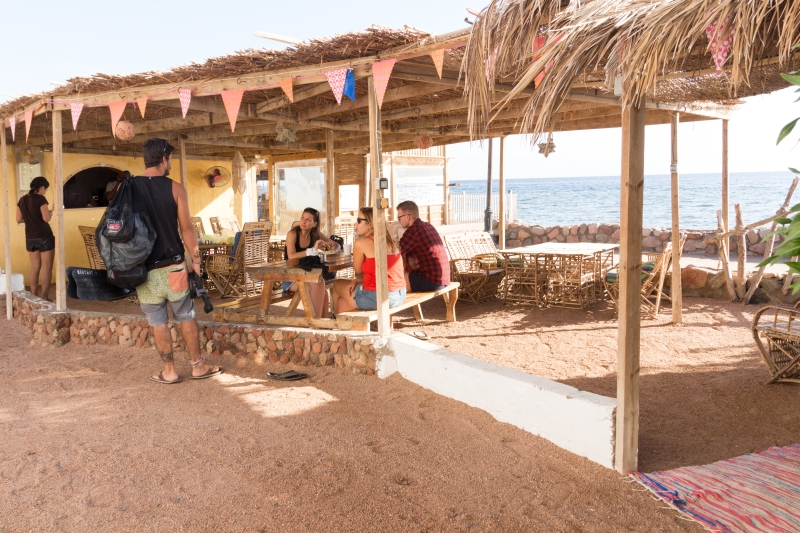 Sindbad Camp Dahab Egypt Dining Area
