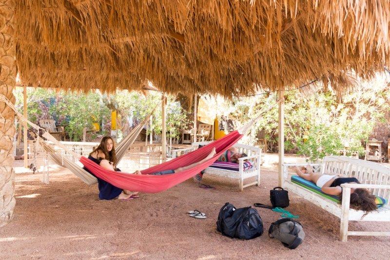 sindbad camp dahab egypt hammock area